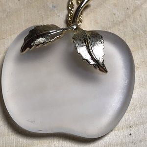 Avon frosted glass vintage necklace